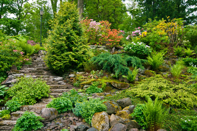 Jardin en pente des id es d am nagement les jardins du - Amenagement de jardin en pente ...