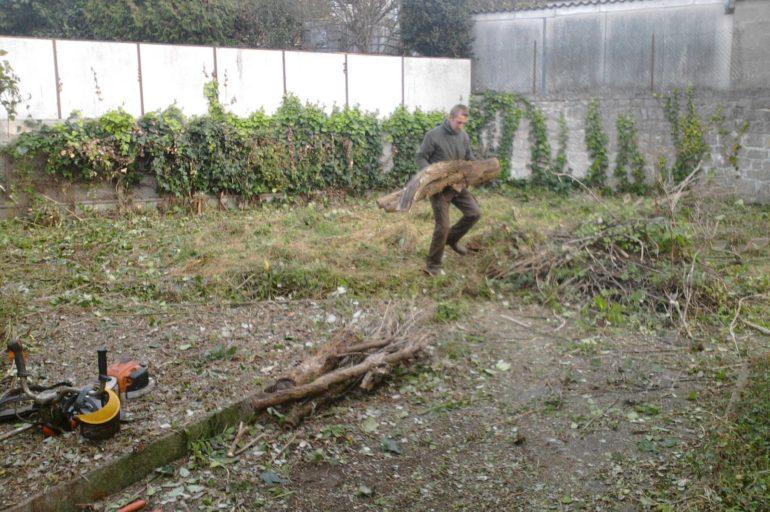 Le nettoyage d'un terrain en friche